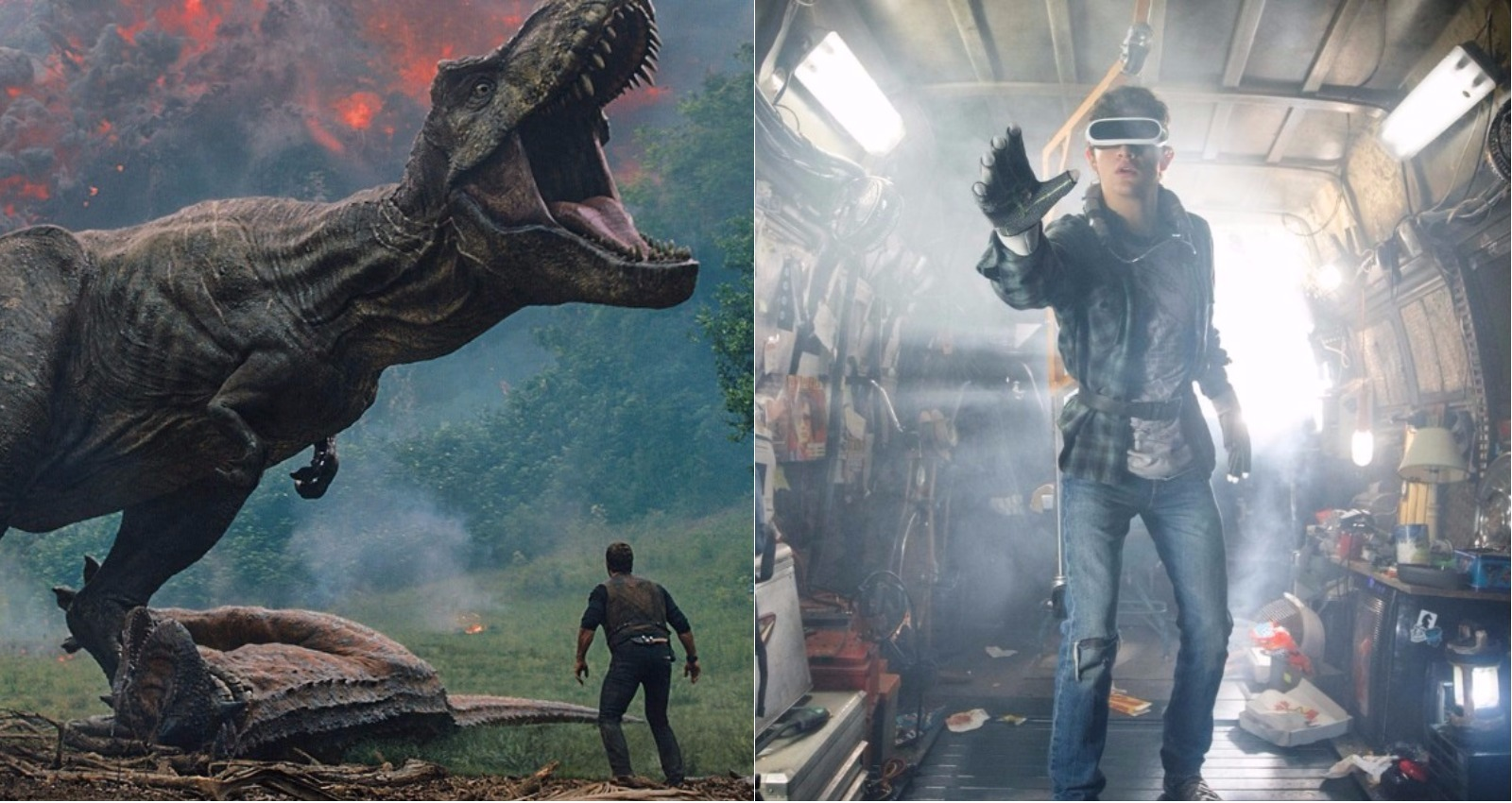 Jurassic World 2 y Ready Player One: Los tráilers que nos dejó el finde
