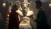 satanic temple statue chilling adventures of sabrinaCredit: Netflix